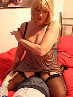British housewife Amy playing with her Toyboy