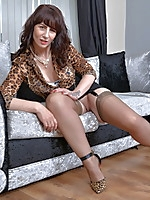 Horny British housewife playing with her wet pussy